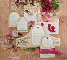 Marsala wedding invitations || Amara • Bridal Registry • ||