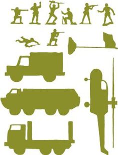 Cricut Ideas - Army men for Duncans' new room
