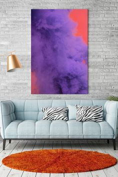 There are a lot of things, on which you can look for hours: fire, water. This strange red and purple smoke also please our eyes. Moreover, this photo art can be a great asset to your interior!  Hand the abstract canvas art print in your living room and add bright accents to your place! Abstract Canvas Art, Canvas Art Prints, Smoke Art, Color Of The Year, Home Look, Ultra Violet, Color Trends, Photo Art, Love Seat