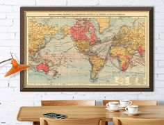 Carte d'archivage de la mappemonde monde  Empire par AncientShades
