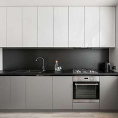 - Millions of Creative Stock Photos, Vectors, Videos and Music Files For Your Inspiration and Projects. White Kitchen Units, Kitchen Design, Black Kitchens, Kitchen Units, Grey Kitchen, Grey Cupboards, Gray And White Kitchen, House Interior, Light Grey Kitchens
