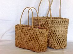 Craft Bags, Paracord, Wicker Baskets, Straw Bag, Weaving, Crafts, Decor, Knit Basket, Bias Tape