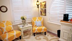 Enjoy a good book and a fresh cup of coffee in the comfort of the Orangeblossom room!