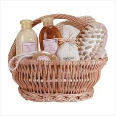 """Ginger Therapy Gift Set (pack of 1 SET) - Package: 1 SETStimulate your skin back to health with this hand-woven gift basket filled with gels lotions bath salts and more. Specially formulated with healing ginger. 9 5/8"""""""" diameter x 8 1/2"""""""" high."""