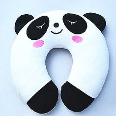 #miniinthebox and #stuffyourstockings Panda Pattern Plush U-Shaped Pillow – USD $ 11.99