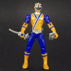 """Power Rangers Super Samurai LIGHT RANGER 4"""" Action Figure MMPR Bandai 2011 #Bandai"""