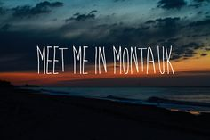 Meet Me In Montauk. || Eternal Sunshine Of The Spotless Mind