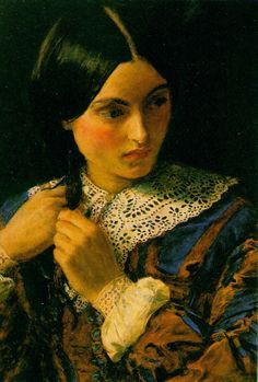 """A Beauty"" by John Everett Millais"