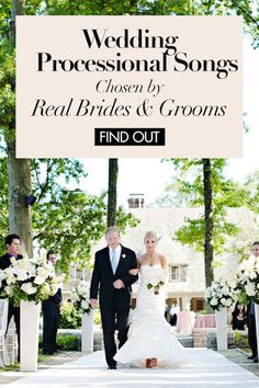 Wedding Processional Songs Chosen by Real Brides & Grooms | Photography: Kortnee Kate. Read More: https://www.insideweddings.com/news/planning-design/wedding-processional-songs-chosen-by-real-brides-grooms/2436/