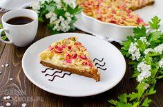Ciasto jaglane z rabarbarem, bezglutenowe