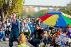 Mauerpark in Berlin - they have a Sunday market with vintage/curio stalls and street food!