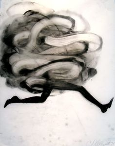 """Cathy Daley.Untitled 804, 2011. Oil pastel on vellum, 24 x19"""".and here"""