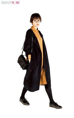 【今日のコーデ/佐藤栞里】シャツワンピが着たい木曜日はガウンコートでこなれ感をプラス。 | ファッション(コーディネート・流行) | DAILY MORE