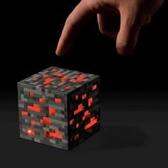 Minecraft Night Light Cube - Redstone ore-block som natlampe!