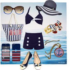 Anchors Away by fashionhabits, via Polyvore