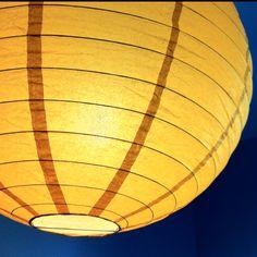 Yellow lampshade Ikea