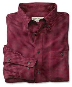 Just found this Wrinkle+Free+Dress+Shirt+-+Wrinkle-Free+Pure+Cotton+Buffalo-Check+Shirt+--+Orvis on Orvis.com!