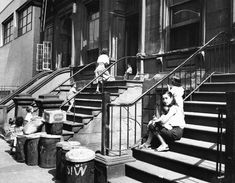 Women and Children on Stoop, circa 1956, New York City Parks Photo Archive