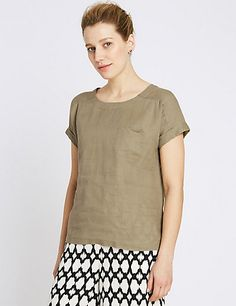 Pure Linen Shell Top | M&S