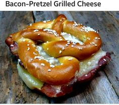 Bacon Pretzel Grilled Cheese