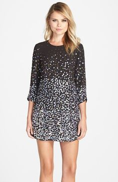 Parker Black 'Petra' Sequin Cocktail Dress available at #Nordstrom