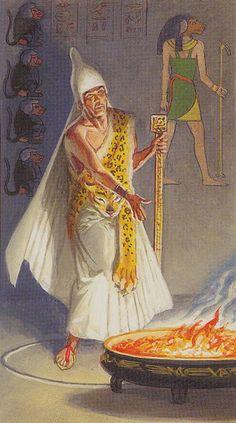 IX - L'ermite - Ramsès : Tarot de l'éternité par Severino Baraldi
