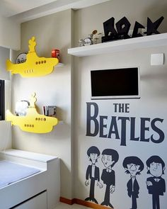 A boa música norteando a decor by arq Amanda Miranda #ahlaemcasa #beatles #yellowsubmarine