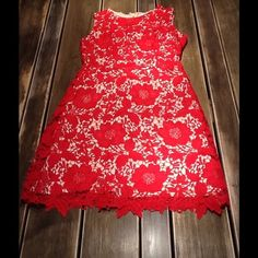 Beautiful red lace sheath dress sz 4 Eci red lace short sheath dress.  Worn 1 time and has been dry cleaned.  Perfect for any event in any season.  Size 4 ECI Dresses Mini