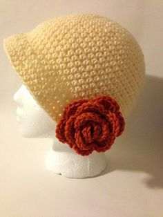 This pattern is for newborn to adult, comes with instructions for optional flower, great pattern, easy to follow, works up quickly. Brim can be made narrow or wide.