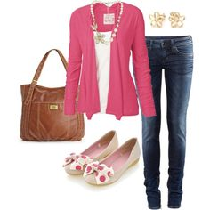 Little Pink Cardigan, created by alanad23 on Polyvore
