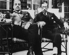 Serge de Diaghilev et Igor Stravinsky Joffrey Ballet, The Rite Of Spring, Classical Music Composers, Famous Couples, Dance Company, Music People, Ballet Dance, Black And White, Balenciaga Dress