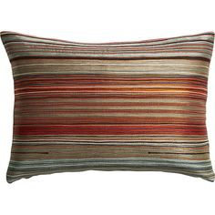 """multi embroidered red 18""""x12"""" pillow"""