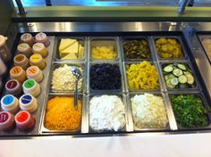 20 different sauces from Salsa to Teriyaki to Mango Habenero to Barbeque.  Try our fresh cheeses like Feta and Provolone.   Get your 3 servings of veggies daily at Pita Pit.