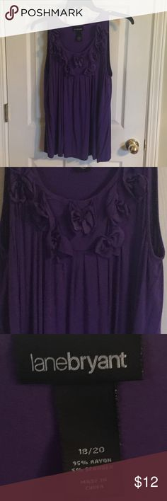 Lane Bryant gorgeous purple sleeveless top Raised flowers. Light and fresh feeling!  Gorgeous color. Lane Bryant Tops Tank Tops