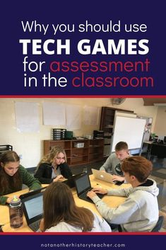 Incorporating technology in the classroom through online game sites, such as Kahoot or Quizlet Live, isn't just for test review.  Read about how high school social studies teacher, Melissa Seideman, uses Socractive for classroom assessment and cuts her grading time by more than half! #notanotherhistoryteacher #assessment #edtech #socrative