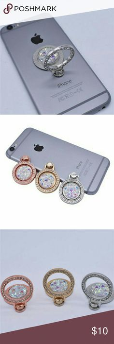 Buy 1 Get 1 free Bling Phone Rings Buy 1 Get 1. Buy 1 of your choice and Get 1 of my choosing. You will receive 2 in your package for the price of 1. Bling Phone Rings. Ring attaches to the back of your cell phone so it's easy to hold, text, or take pics. Also use as a phone kickstand.  Available in 3 colors Rose gold, Gold and Silver. Accessories Phone Cases