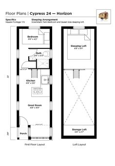 Astounding 8 X 19 Tiny House Floor Plans With Loft Above Stairs Or Largest Home Design Picture Inspirations Pitcheantrous