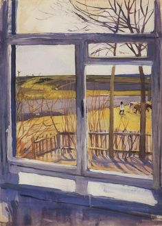View from the Window - Zinaida Serebriakova 1910 Russian 1884-1967