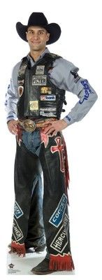 PBR BULL RIDING WILEY PETERSON CARDBOARD STANDUP CUTOUT STANDEE PARTY FIGURE 203 on eBay!