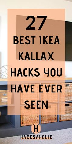 There are so many great Ikea Kallax hacks out there but which are the best? We& brought together the very best Ikea Kallax hacks for you in one place. You can create so many gorgeous and practical pieces of furniture with an Ikea Kallax. Etagere Kallax Ikea, Ikea Kallax Shelf, Ikea Shelves, Ikea Shelf Hack, Kallax Desk, Ikea Office Hack, Ikea Hack Bathroom, Painting Ikea Furniture, Ikea Furniture Hacks
