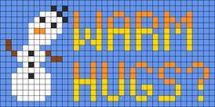 Frozen Olaf Warm Hugs Perler Bead Pattern / Bead Sprite