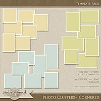 The Photo Project - Photo Clusters Cornered Template Pack