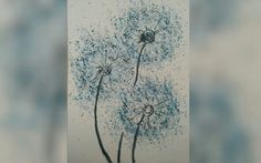 How To Paint A Dandelion: 10 Amazing and Easy Tutorials! Dandelion Wallpaper, Dandelion Painting, Good Tutorials, Watercolor And Ink, Painting Techniques, Make It Yourself, Amazing, Flowers, Plants