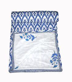 New Block Print Ac Dohar Blanket Traditional AC Comforter Cotton Fabric Coverlet