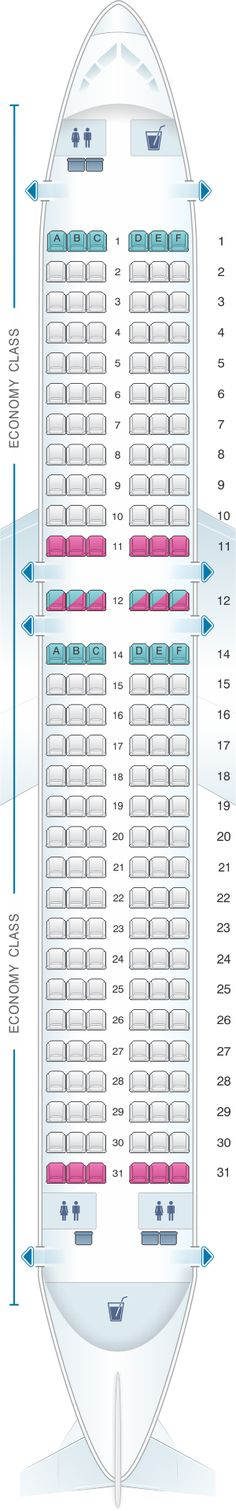 Seat Map Kingfisher Airlines Airbus A320 200 180PAX