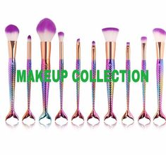 Where to get those awesome mermaid makeup brushes..! Cool mermaid stuff from @luannsmergirls - - - #mermaidtrends #mermaids #mermaidart #mermaidmakeup #makeup #contouring #makeupbrush - #mermaidlifestyle