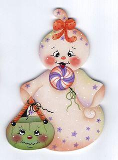 Lollipop Ghost Painting E-Pattern by GingerbreadCuties on Etsy Pamela House Pattern