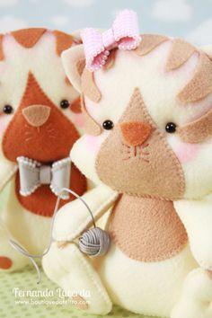 Baby Gatinhos! Peças presentes em minha Apostila Digital Baby Pets. Para conhecer acesse: www.boutiquedofeltro.com