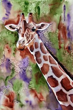 Kate.... I think of you                                       figurative - Giraffe by janet knight