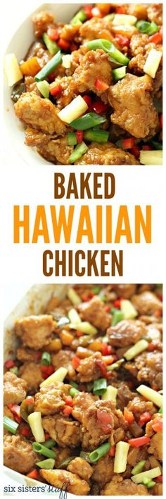 Baked Hawaiian Chicken recipe from @SixSistersStuff. This is a great shake up to your normal family dinner